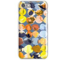 Yellow ink dots iPhone Case/Skin