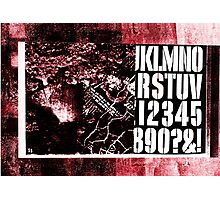 S Stencil (red industrial texture) Photographic Print