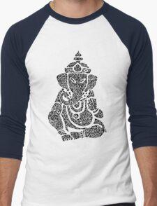 Ink Rain Ganesha Men's Baseball ¾ T-Shirt