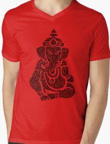 Ink Rain Ganesha Mens V-Neck T-Shirt
