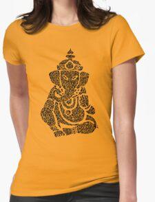 Ink Rain Ganesha Womens Fitted T-Shirt