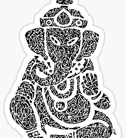Ink Rain Ganesha Sticker