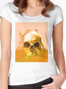 Golden Skull in Water Women's Fitted Scoop T-Shirt
