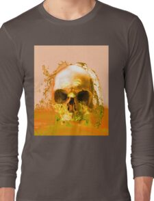 Golden Skull in Water Long Sleeve T-Shirt