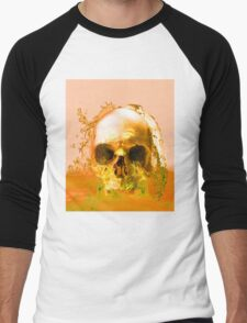 Golden Skull in Water Men's Baseball ¾ T-Shirt