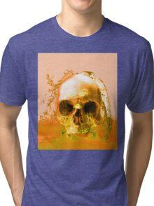 Golden Skull in Water Tri-blend T-Shirt