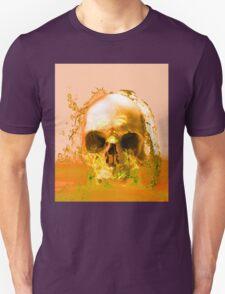 Golden Skull in Water Unisex T-Shirt