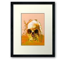 Golden Skull in Water Framed Print