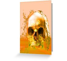 Golden Skull in Water Greeting Card