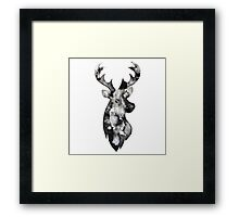 Stag Watercolour Framed Print