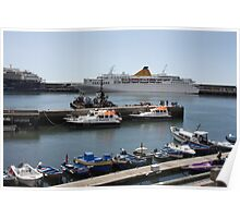 Boats in Madeira Poster