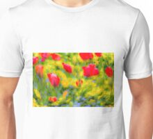 English Summer Flowers Pastel Art Unisex T-Shirt