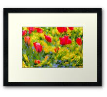 English Summer Flowers Pastel Art Framed Print