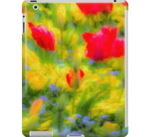 English Summer Flowers Pastel Art iPad Case/Skin