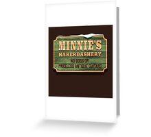 Minnie's Haberdashery Greeting Card
