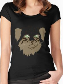 Pallas Cat (Manul) Women's Fitted Scoop T-Shirt