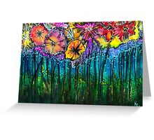 Flowers That Only  Fireflies See - Kerry Beazley Greeting Card