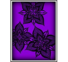 Floral Fantasy in Purple Photographic Print