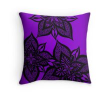 Floral Fantasy in Purple Throw Pillow