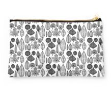Black and White Leaves Studio Pouch