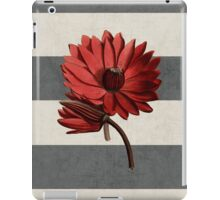 botanical stripes - red water lily iPad Case/Skin