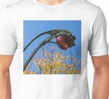 A Flower or a Snake - Sinuously Curved Art Nouveau Light at Paris Metro Unisex T-Shirt