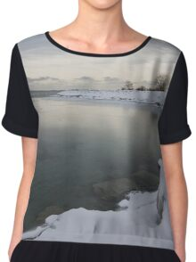 Cold, Gray and Transparent Chiffon Top