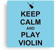 Play Violin (Black) Canvas Print