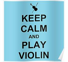 Play Violin (Black) Poster