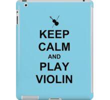 Play Violin (Black) iPad Case/Skin