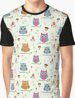 Cute owls pattern Graphic T-Shirt