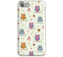 Cute owls pattern iPhone Case/Skin