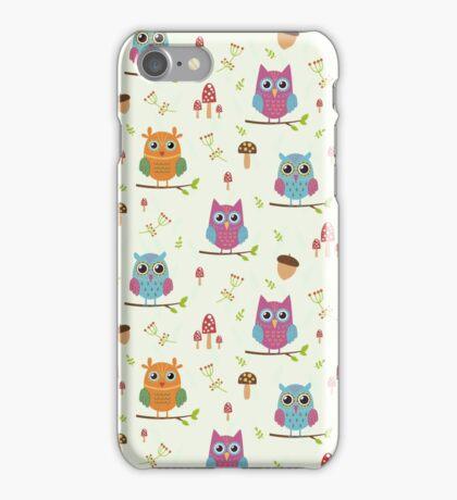 Cute owls pattern iPhone Case/Skin