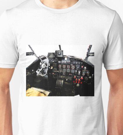 RAF World War 2 AVRO Lancaster cockpit Unisex T-Shirt