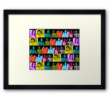 Mixed Colours Shirtless Male Bloc Pattern ~ Small Panels  Framed Print
