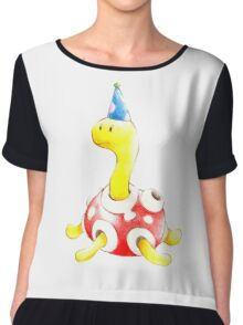Shuckle in a Party Hat Chiffon Top