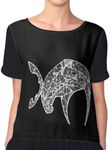 The Last Angry Moose (white) Chiffon Top