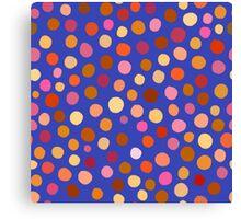 Orangey dots Canvas Print