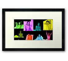 Mixed Colours Shirtless Male Bloc Pattern  Framed Print