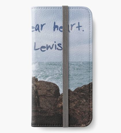 courage, dear heart photography iPhone Wallet/Case/Skin