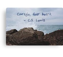 courage, dear heart photography Canvas Print