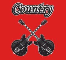 Country Music Black Guitars One Piece - Short Sleeve