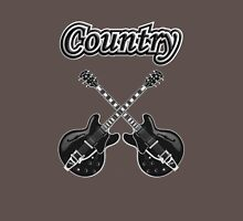Country Music Black Guitars Unisex T-Shirt