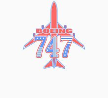 Red and Blue 747 Unisex T-Shirt