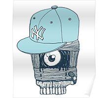 Blue Cap NY Poster