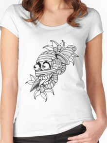 Knife Skull Women's Fitted Scoop T-Shirt