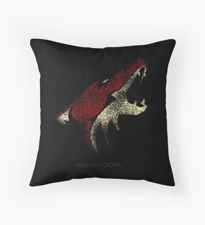 Arizona coyotes Logo Bluringg Throw Pillow