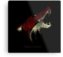 Arizona coyotes Logo Bluringg Metal Print