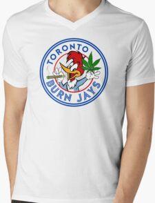 Toronto Burn Jays Mens V-Neck T-Shirt