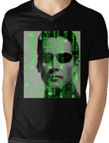 The Matrix - Neo Mens V-Neck T-Shirt